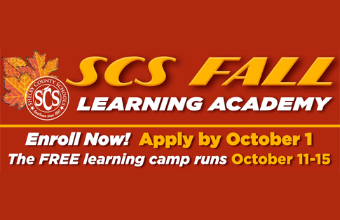 Registration for SCS Fall Break Learning Academy Begins Sept. 15. Register Here.