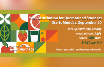 SCS to Provide Meals to Quarantined Students Beginning Sept. 20. Learn More.